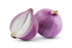 Fresh onion  on white background. Cut out collection Stock Images