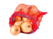 Fresh onions in package Royalty Free Stock Images