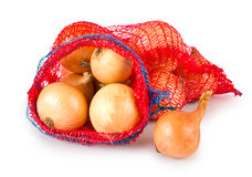 Fresh onions in package Royalty Free Stock Image