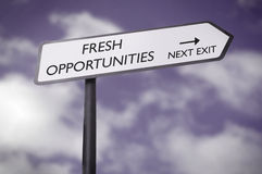 Fresh opportunities Stock Photo