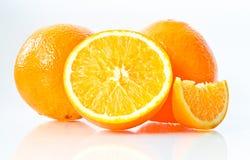 Fresh Orange. On a white background Royalty Free Stock Photos