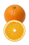 Fresh orange. Fruit isolated over white background Stock Photos