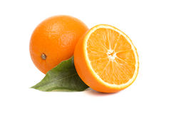 Fresh orange. A photo of two fresh orange Royalty Free Stock Images