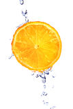 Fresh orange. With water drops  isolated on white Stock Photo