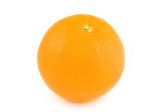Fresh orange. Fruit on white background royalty free stock photos