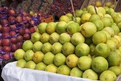 Fresh orange and apple royalty free stock photo