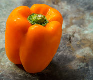 Fresh Orange Bell Pepper Stock Photos