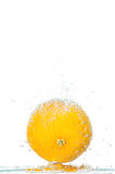 Fresh orange with bubbles Stock Photography