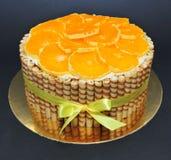 Fresh Orange cake Royalty Free Stock Images