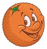 Fresh orange cartoon Stock Photos