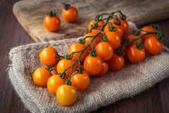 Fresh orange cherry tomatoes Stock Image