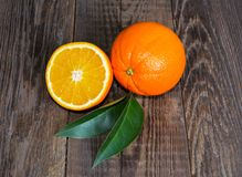 Fresh orange, chopped orange Stock Images
