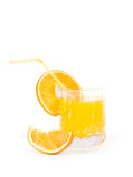Fresh orange close up. Food ingredients. Fruits Stock Photos