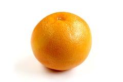 Fresh orange close-up on white background. Fresh and single orange close-up on white background Stock Photo