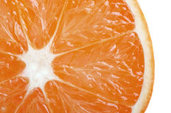 Fresh orange closeup Stock Photography