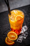 Fresh orange cocktail Stock Image