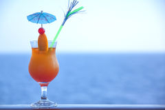 Fresh orange cold cocktail Stock Photography