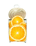Fresh orange in cross-section over white Stock Image