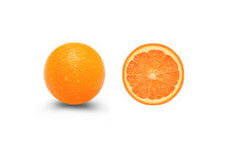 Fresh orange fruit in cut Royalty Free Stock Photography