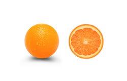 Fresh orange fruit in cut Royalty Free Stock Photography