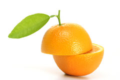 Fresh orange fruit halves Royalty Free Stock Image