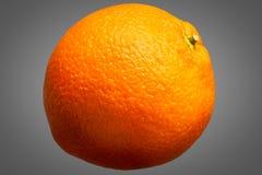 Fresh orange fruit isolated on grey background Royalty Free Stock Images