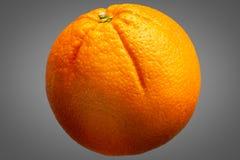 Fresh orange fruit isolated on grey background Stock Photo