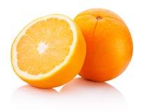 Fresh Orange fruit isolated on white background. Fresh Orange fruit isolated on a white background royalty free stock image