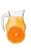 Fresh orange fruit and juice Royalty Free Stock Photos