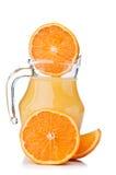 Fresh orange fruit and juice Royalty Free Stock Images