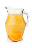 Fresh orange fruit and juice Royalty Free Stock Image