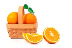 Fresh orange fruit on white background Royalty Free Stock Photography