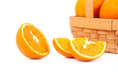 fresh orange fruit on white background Stock Photography
