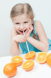 Fresh orange fruits Stock Photo