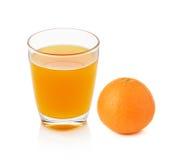 Fresh orange fruits and juice Stock Photography