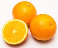 Fresh orange fruits  over the white background Royalty Free Stock Photo