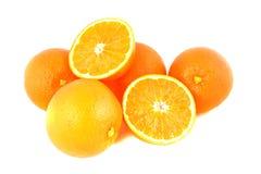Fresh orange fruits on white Royalty Free Stock Images