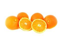 Fresh orange fruits on white Stock Photography