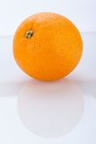 Fresh orange halved to show the pulp Royalty Free Stock Image