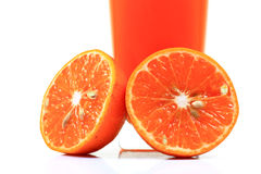 Fresh orange halves Stock Photography