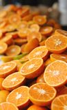 Fresh Orange Halves Stock Photos