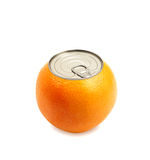 Fresh orange isolated Royalty Free Stock Photography
