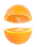 Fresh orange isolated Stock Image