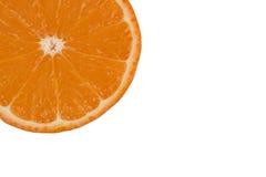 Fresh Orange Isolated. Orange Peel Isolated Stock Photo