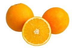 Fresh orange isolated Stock Photos