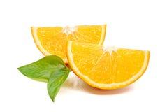 Fresh orange isolated on white background.  Royalty Free Stock Photos