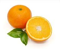 Fresh orange isolated on white background.  Royalty Free Stock Photography