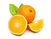 Fresh orange isolated on white background.  Stock Photo