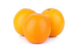 Fresh orange isolated on white background Royalty Free Stock Photos