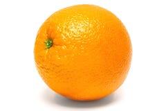 Fresh orange isolated white background Stock Photos